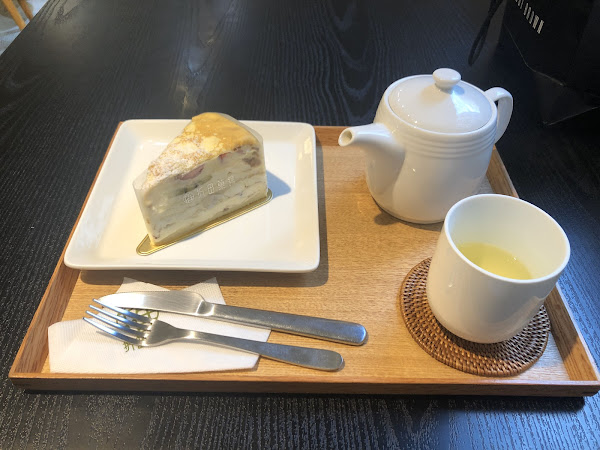 甜點好吃,奶油不膩,熱茶可以回沖❤️