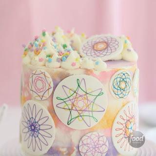Spirograph Cake.