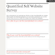 Quantified Self Website Survey