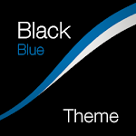 Black - Blue Theme for Xperia Icon