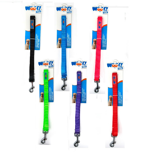 accesorio para mascotas woof correa nylon 1.5cm ancho x 120cm largo