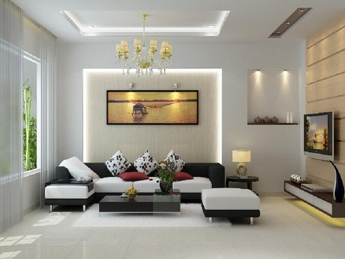 thi công nội thất phòng khách tại Lê Phạm Home
