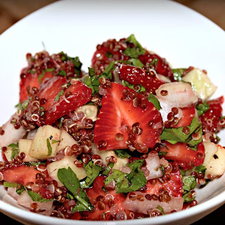 Strawberry Quinoa Tabbouleh Salad