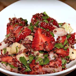 Strawberry Quinoa Tabbouleh Salad.