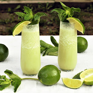 Frozen Coconut Mojitos.
