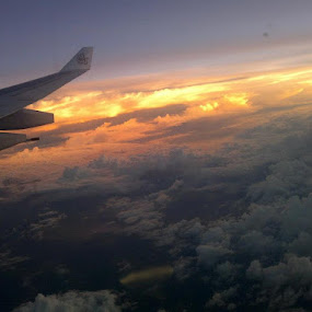Twilight from flight- beautiful colour combination by Kaushik Nandy - Instagram & Mobile Other