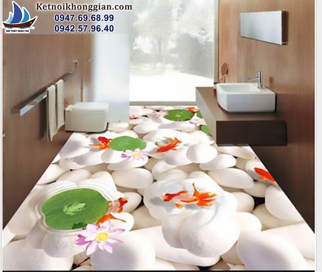 thiết kế phòng tắm bằng gạch 3d