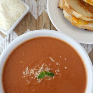 Crockpot Tomato Basil Parmesan Soup