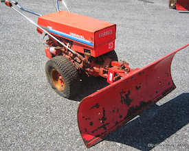 Photo: Lot 34 - (5029-1/1) - 1987 Gravely Walk Behind Snow Plow w/ Blade - 1,410 hours