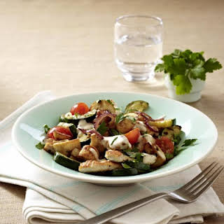 Sautéed Mediterranean Vegetables with Turkey.