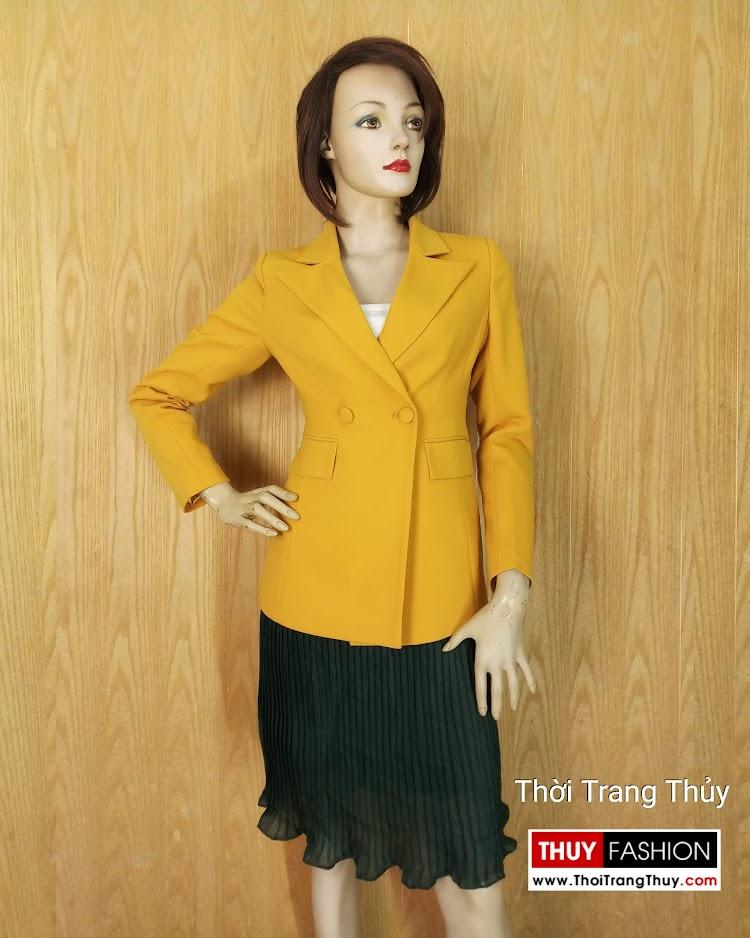 Áo vest nữ công sở màu vàng V658 thời trang thủy