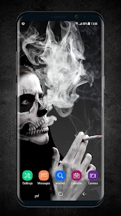 2018 Skull Lighter Lock Screen - Click to Unlock - náhled