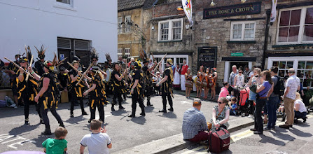 Photo: TIME TO MOVE ONTO THE ROSE & CROWN WITH WRECKERS BORDER MORRIS