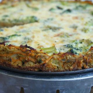Quiche With Veggie Crust.