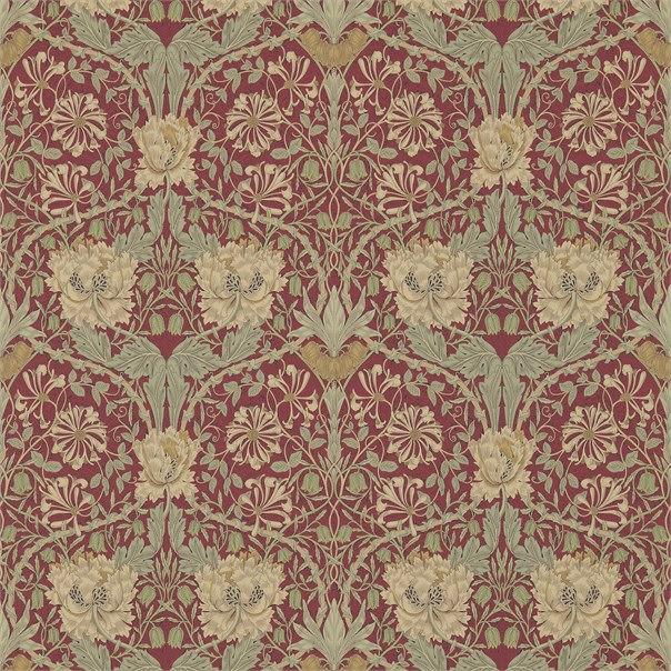 Honeysuckle & Tulip Tapet - gold