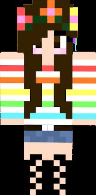 Eduarda ama o Arco-Íris então resolveu comprar uma camisa de Arco-Íris.