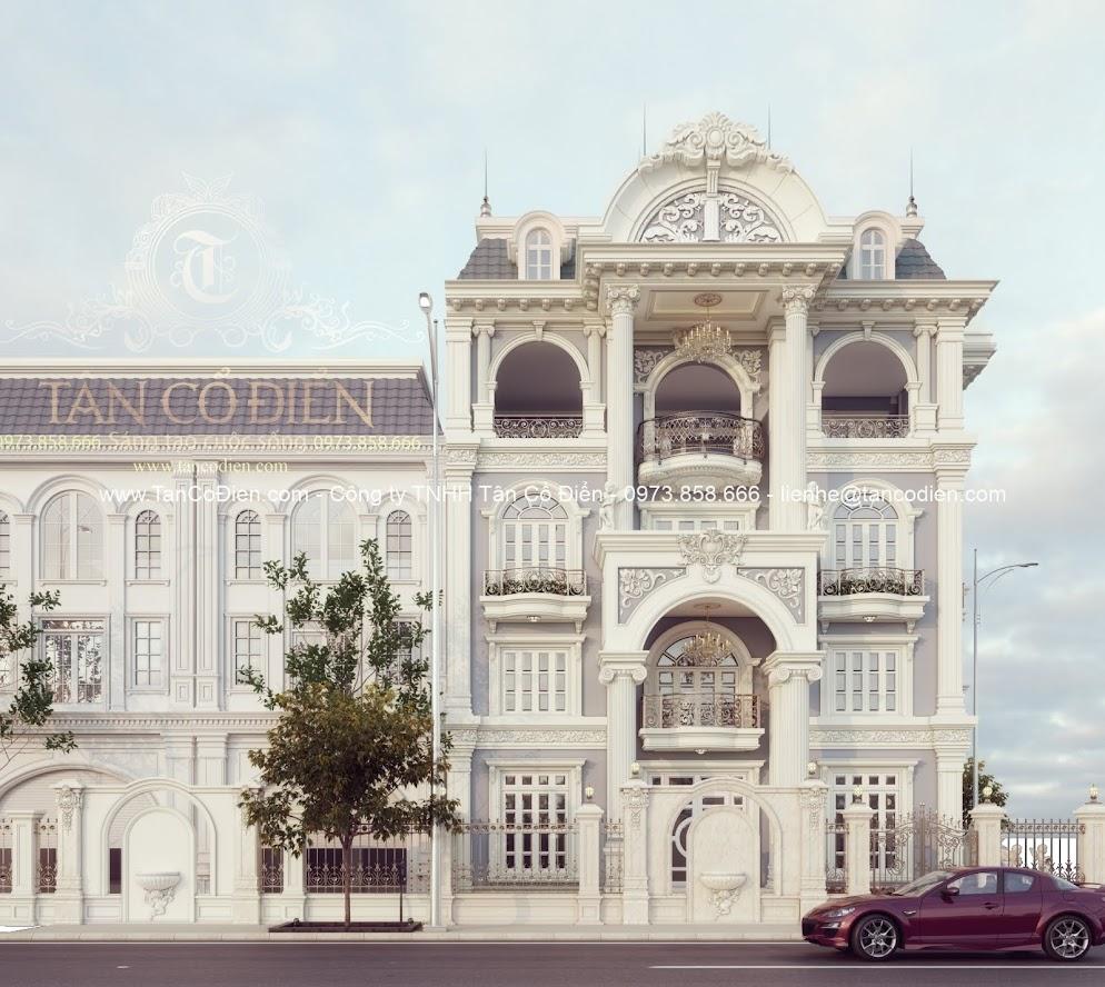 Ai cũng sẽ thích ngắm nhìn mẫu biệt thự cổ điển đẹp này