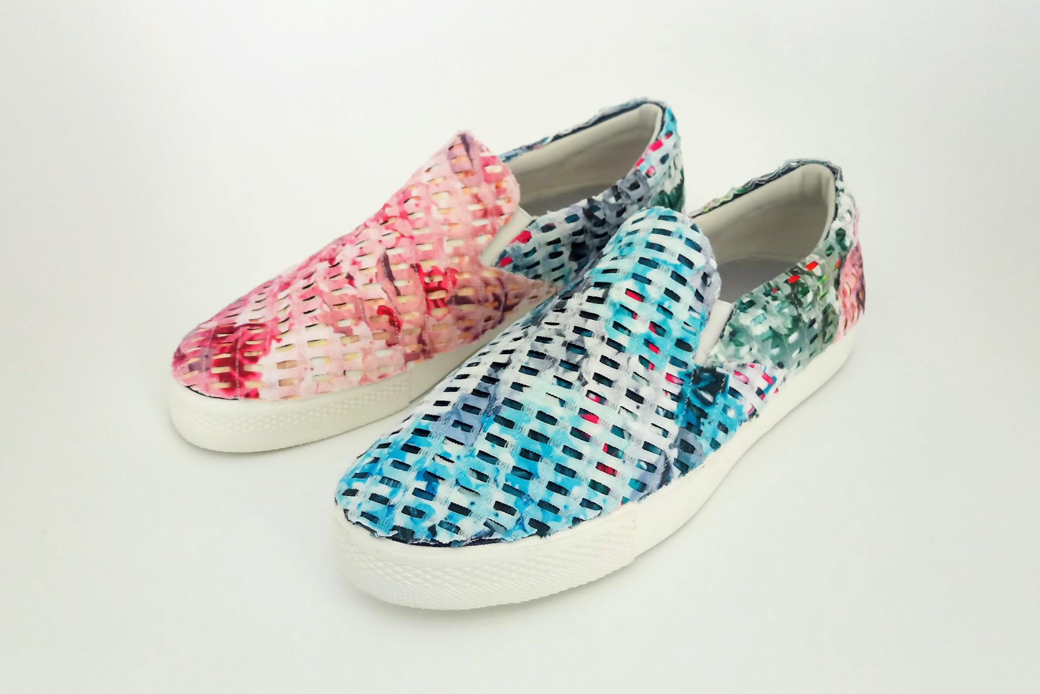 Fabric Collage Shoes - DIY Fashion project | fafafoom.com