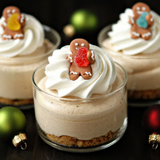Gingerbread Oreo No Bake Mini Cheesecakes Recipe