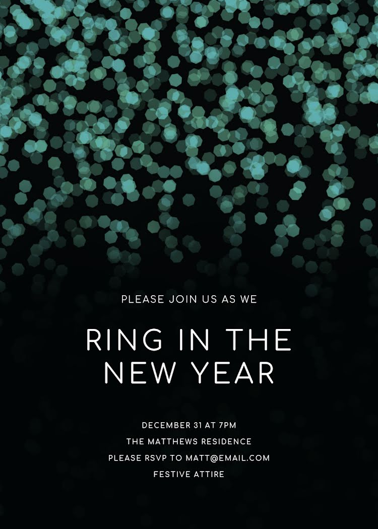 Ring In the New Year - New Year's Card Template