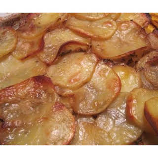 Potato and Onion Gratin.