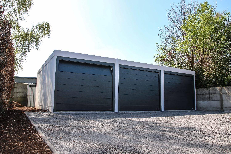 Betonnen garageboxen