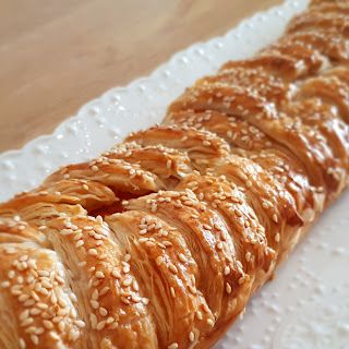 Sweet potato & White Brine Sirene Puff pastry braid.