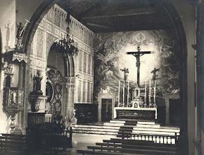 Photo: Interior del templo. Década de 1960.