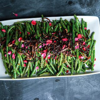 Sichuan Green Beans with Fried Shallots.