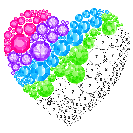 Diamond Art - Color by Number, Coloring Book Pages Icon