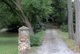 Photo: Driveway up to his pituresque house