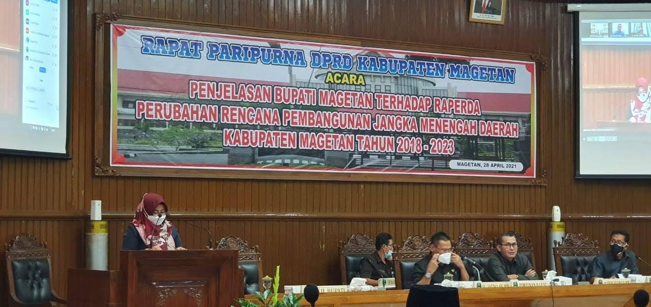 Rapat Paripurna DPRD Raperda Perubahan RPJMD Kabupaten Magetan