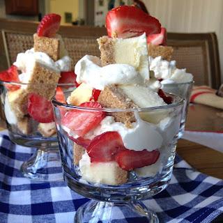 Strawberries and Cheesecake Trifle.