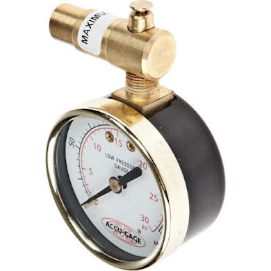 Meiser 30psi Presta-Valve Dial Gauge with Pressure Relief Thumb