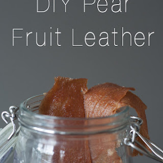 DIY Pear Fruit Leather