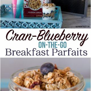 Cran-Blueberry Breakfast Parfaits On-The-Go.