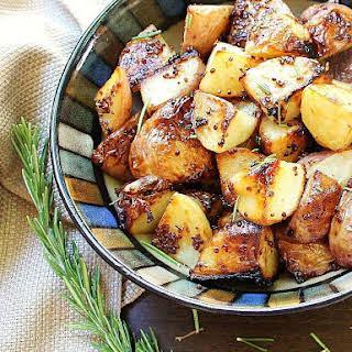 Roasted Honey-Dijon Potatoes with Fresh Rosemary.