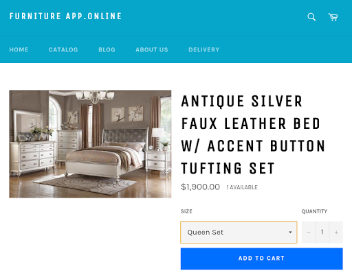 Furniture App Online Screenshot