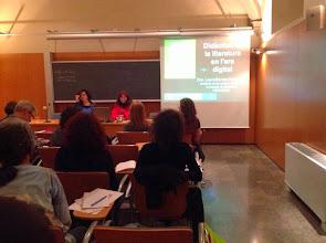 """Photo: """"Didàctica de la literatura en l'era digital"""" a càrrec de Laura Borràs, directora de l'ILC"""