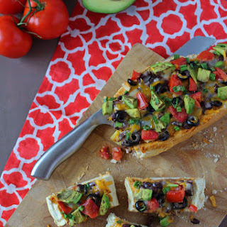 Spicy Black Bean Taco French Bread Pizza