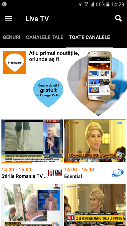 Orange TV Go- screenshot
