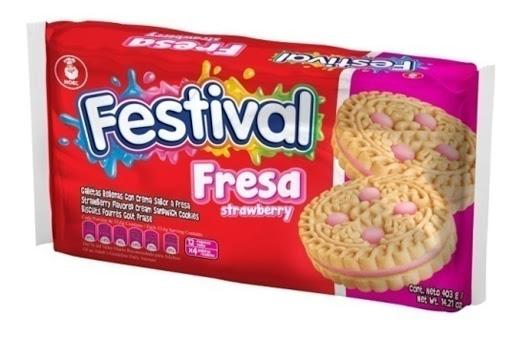 galleta festival fresa 404gr