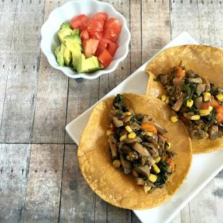 Vegan and Gluten-Free Chorizo Mushroom Tacos