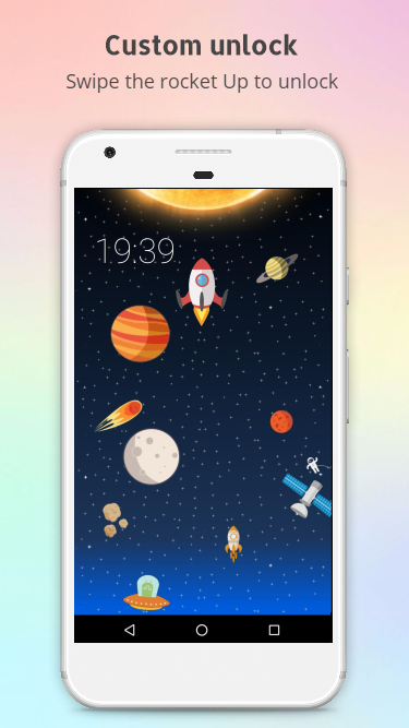 Rocket - animated screen lock- screenshot