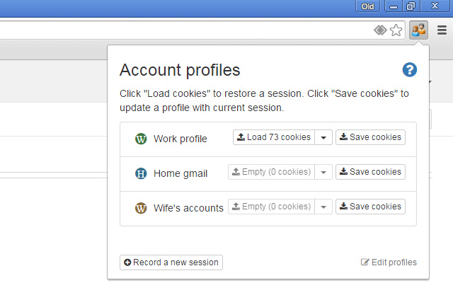 Easy Account Switcher for Google, Facebook.