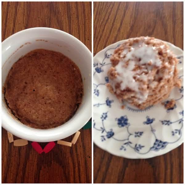 Mug Cinnamon  Streusel Coffee Cake Recipe