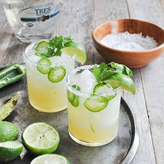 Fresh Lime & Jalapeno Margarita.