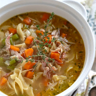 20 Minute Homemade Chicken Noodle Soup.