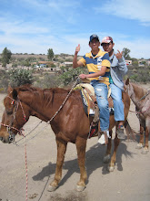 Photo: Max and Juan on a horse for the very first time Feb. 2013
