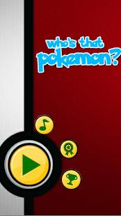 Game: Who's that pokemon?- screenshot thumbnail